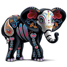 "Blake Jensen ""Soulful Spirits"" Elephant Figurine Collection"