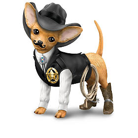 """""""Spurs 'N Fur"""" Chihuahua Cowboy Figurine Collection"""