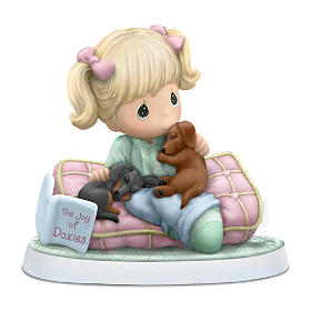 """Precious Moments """"Joy Of Dachshunds"""" Figurine Collection"""