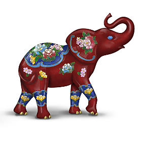 Eclectic Elegance Hand-Painted Elephant Figurine Collection
