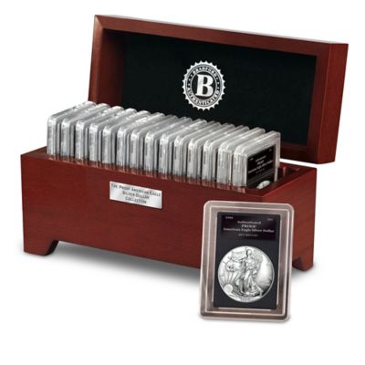 The Complete Proof American Eagle Silver Dollar Collection by