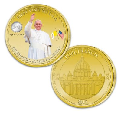 Pope Francis First USA Visit Commemorative Coin Collection by