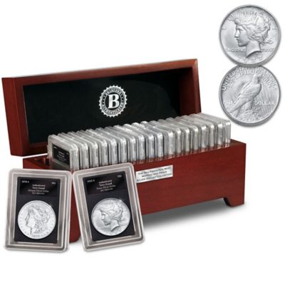 San Francisco Silver Dollar Collection With Display Box by