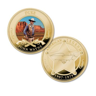 John Wayne Tribute Proof Coin Collection With Display Box by