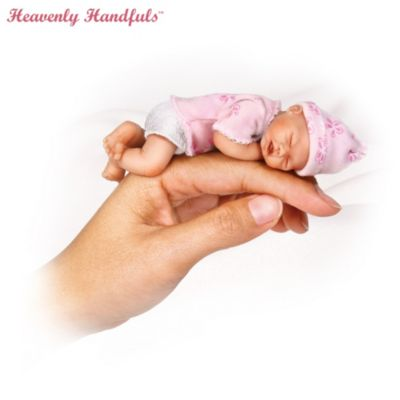 Heavenly Handfuls Collectible Lifelike Miniature Baby Doll