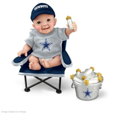 c0ffc6ffa51 Dallas Cowboys Tailgatin Tots Lifelike Baby Doll Collection