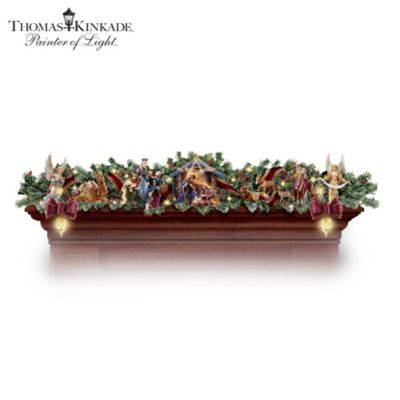 Thomas Kinkade Light Up Nativity Christmas Decoration Nativity