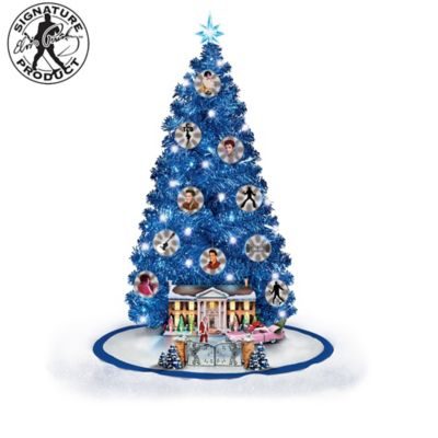 Elvis Presley Illuminated Musical Christmas Tree Collection by