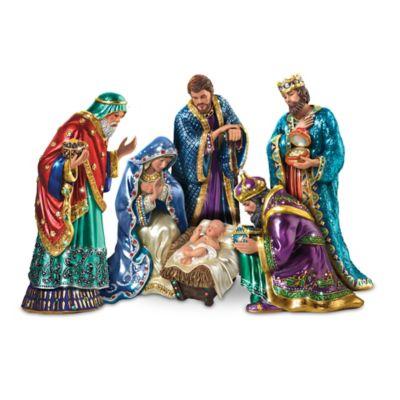 The Jeweled Nativity Peter Carl Faberge Inspired Figurine