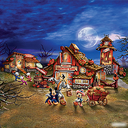 Image Disney Halloween Harvest Lighted Village Collection