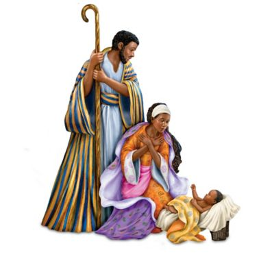 Keith Mallett Lords Blessings Nativity Collection