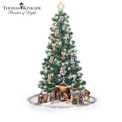 Thomas Kinkade Pre-Lit Nativity Christmas Tree Collection by
