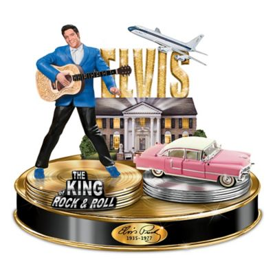 Life Of Elvis Light-Up Musical Tribute Sculpture Collection by