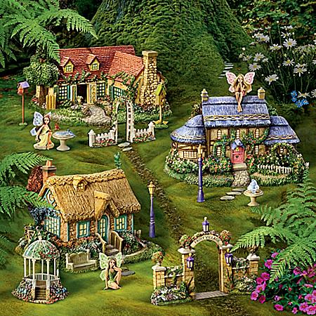 Thomas Kinkade Fairy Garden Village Collection