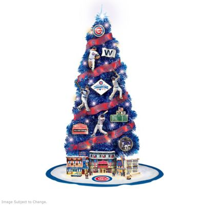 mlb chicago cubs 2016 world series champions christmas tree collection - Christmas Tree In Chicago