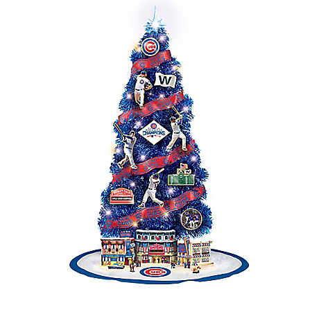Image of MLB Chicago Cubs 2016 World Series Champions Christmas Tree Collection