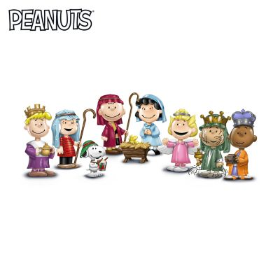 The PEANUTS Christmas Pageant Porcelain Figurine Collection by