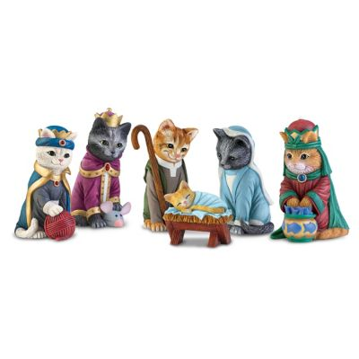 The PURR-fect Christmas Pageant Nativity Figurine Collection by