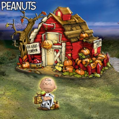 PEANUTS Lighted Halloween Village Collection With Figurines by