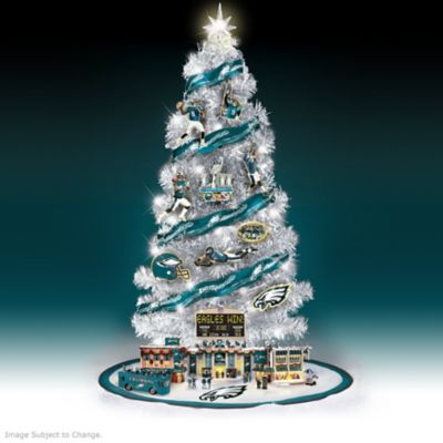 Eagles Super Bowl LII Lighted Christmas Tree Collection by
