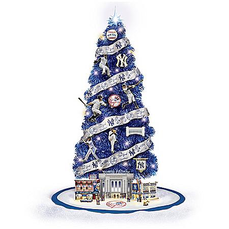 Image of New York Yankees MLB Illuminated Christmas Tree Collection