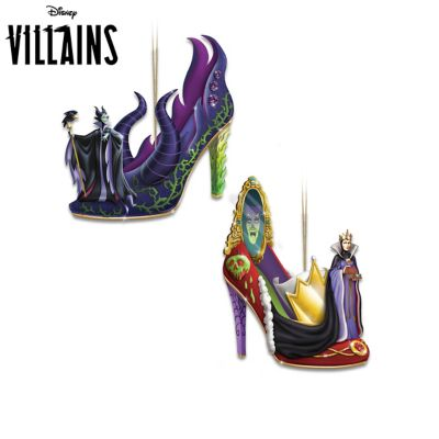 Disney So Good To Be Bad Shoe Ornament Collection by