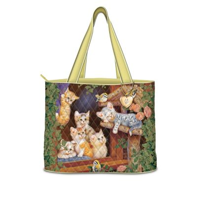 Kitten Tales Of Adventure Seasonal Tote Bag Collection by