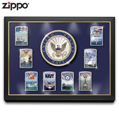 U.S. Navy® Zippo® Lighters With Lighted Display by