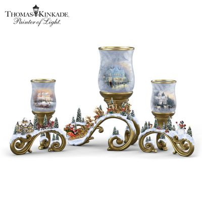 Holiday Memories Authentic Issue in Thomas Kinkade/'s Celebration of Light Collection A1294 Victorian Lights