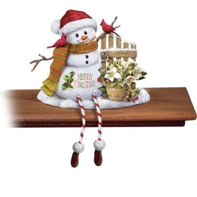 93ac141a Marjolein Bastin Snowman Sculpture Shelf Sitters Collection