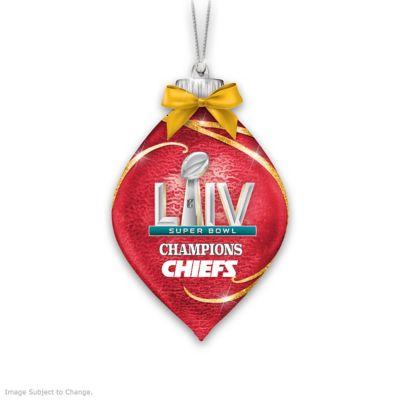 Superbowl 2020 Christmas Ornaments Kansas City Chiefs Super Bowl LIV NFL Illuminating Glass Ornament