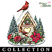 Holiday Birdhouse Table Centerpiece Collection