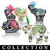 Elephants Of Good Fortune Figurine Collection