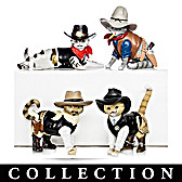 Spurs 'N Fur Kitty Cowboys Figurine Collection