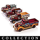 On The Road With John Wayne Wood Truck Sculpture Collection
