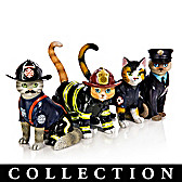 Furr-ever Firefighter Figurine Collection