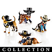 Spurs 'N Fur Chihuahua Figurine Collection