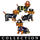 Furr-ever Firefighter Dachshund Figurine Collection