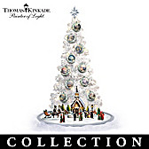 Thomas Kinkade Christmas Tree With Sculptures Collection