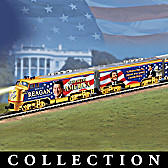 Ronald Reagan God Bless America Express Train Collection