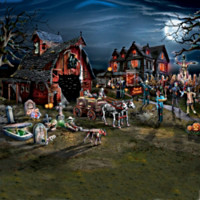Stalking Dead County Illuminated Village Collection