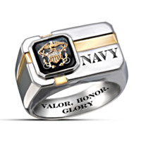 U.S. Navy Motto Men's Ring