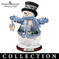 Thomas Kinkade Winter Wonderland Snowman Figurine Collection