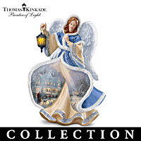 Thomas Kinkade Winter Angels Of Light Figurine Collection