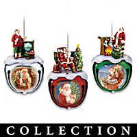 Dona Gelsinger\'s Santa Ornament Collection