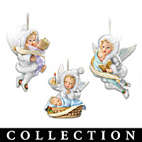 Snow Wonder Angels Ornament Collection