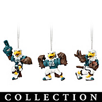 Philadelphia Eagles Swoop Ornament Collection