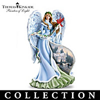 Thomas Kinkade Gifts Of Christmas Angel Figurine Collection