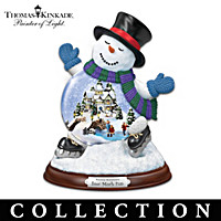 Thomas Kinkade Making Spirits Bright Snowglobe Collection