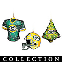 Green Bay Packers Gridiron Glow Ornament Collection